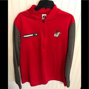 Georgia bulldogs 1/4 zip pullover